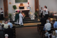 Bishop John M. D'Arcy celebrated Mass at the 150th anniversary of St. John the Baptist Parish, on Sept. 27, in New Haven.