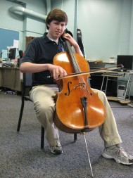 Austin Huntington, 15, is in Paris this week and next to perform at the Rostropovich Cello Competition. The sophomore at Saint Joseph's High School, South Bend, is one of only six Americans invited to the competition.