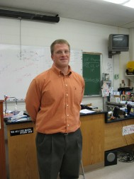 Pictured is Saint Joseph's High School physics teacher Chris Culver, who will be leaving to complete a yearlong tour of duty in Baghdad.