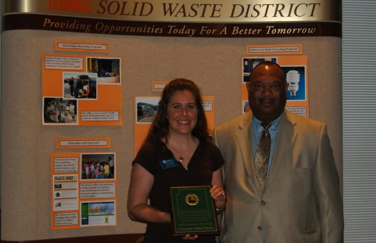University of Saint Francis earns Excellence in Recycling Award