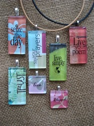 Shannon Wilson of Granger has an extensive jewelry collection, which features glass pendants with inspirational and spiritual messages.