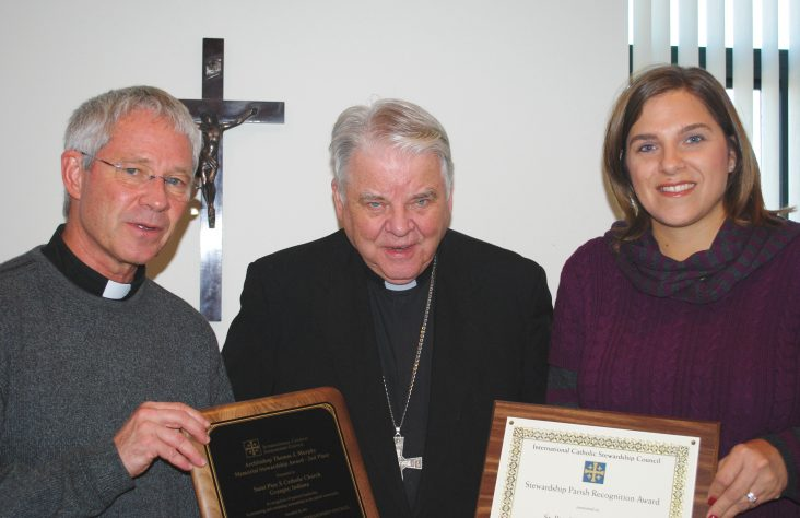St. Pius X honored as runner-up for stewardship award