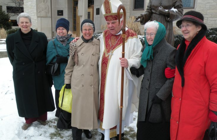 St. Mother Theodore statue blessed on cathedral grounds
