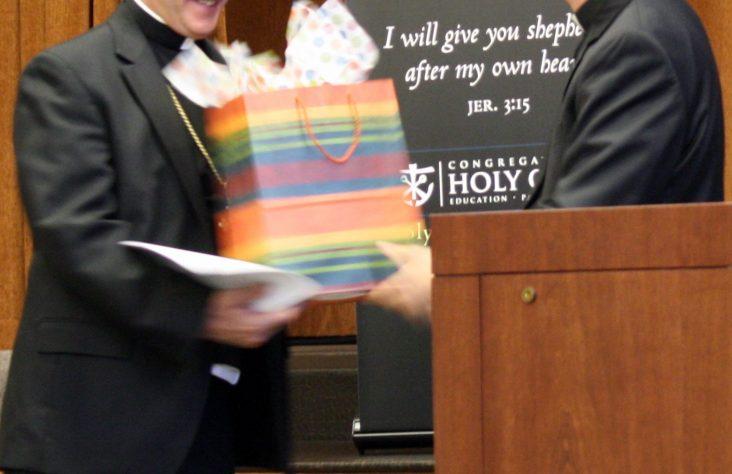 Bishop Rhoades talks on vocation discernment at Moreau Seminary
