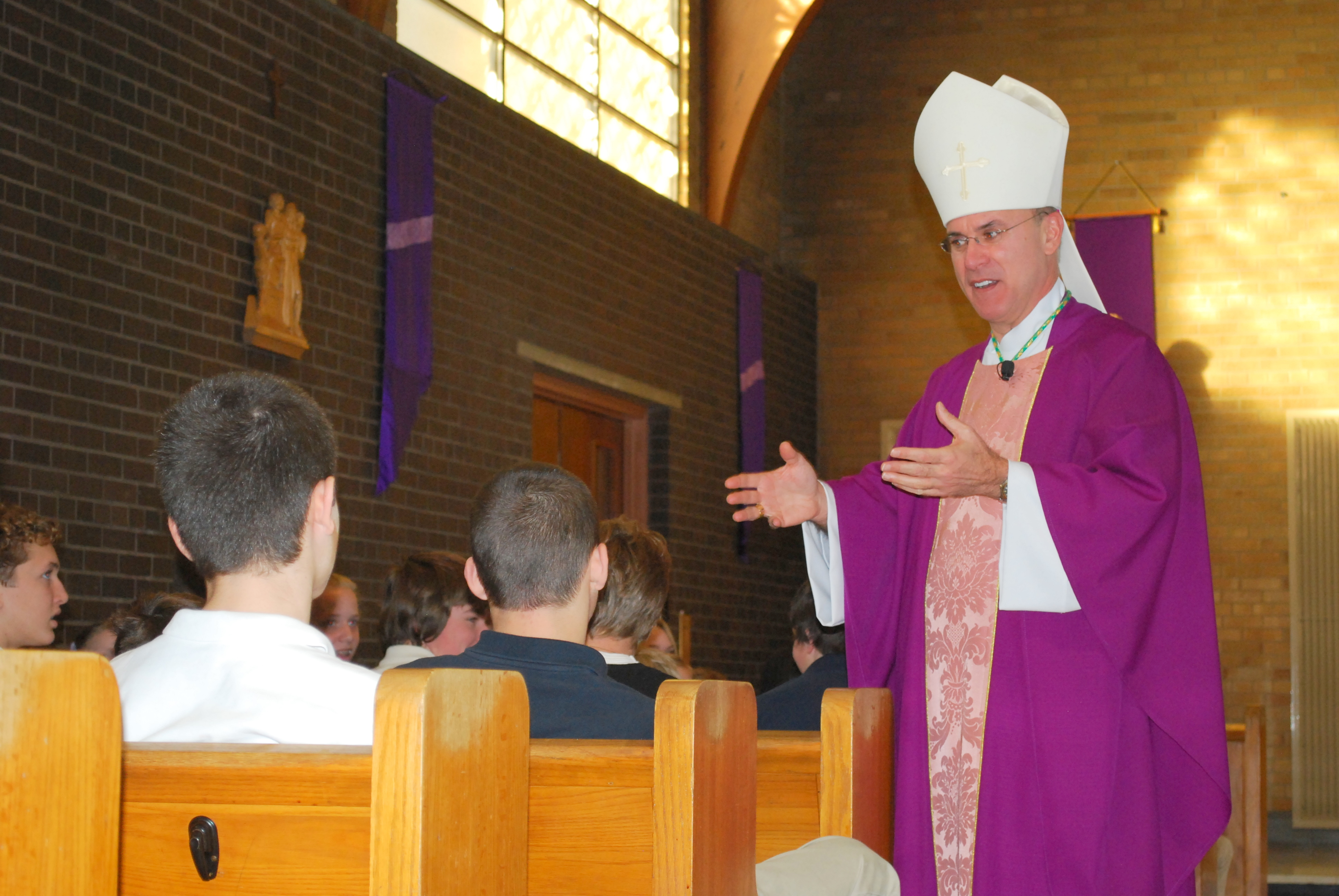 Bishop rhoades makes pastoral visit to christ the king school during bishop rhoades homily at the all school mass he spoke of the book of the prophet isaiah which looks for a king to come and save the jewish people kristyandbryce Image collections