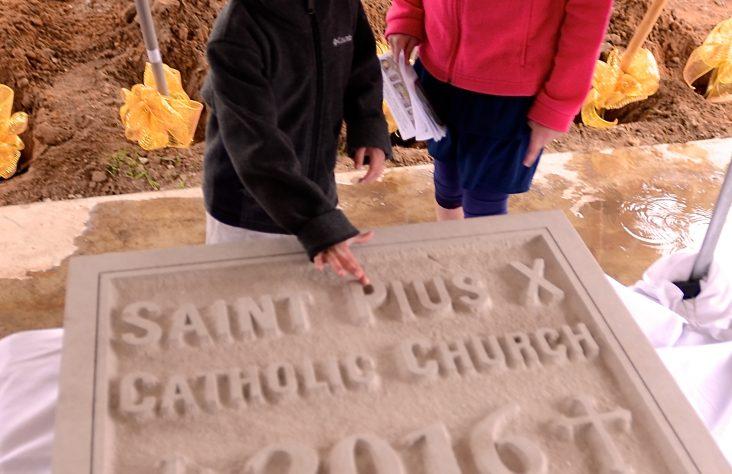 St. Pius X Parish breaks new ground