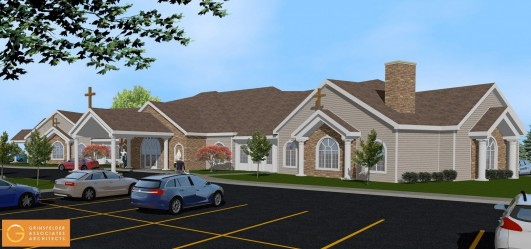 Catholic cemetery announces plans for new funeral home for Funeral home building plans
