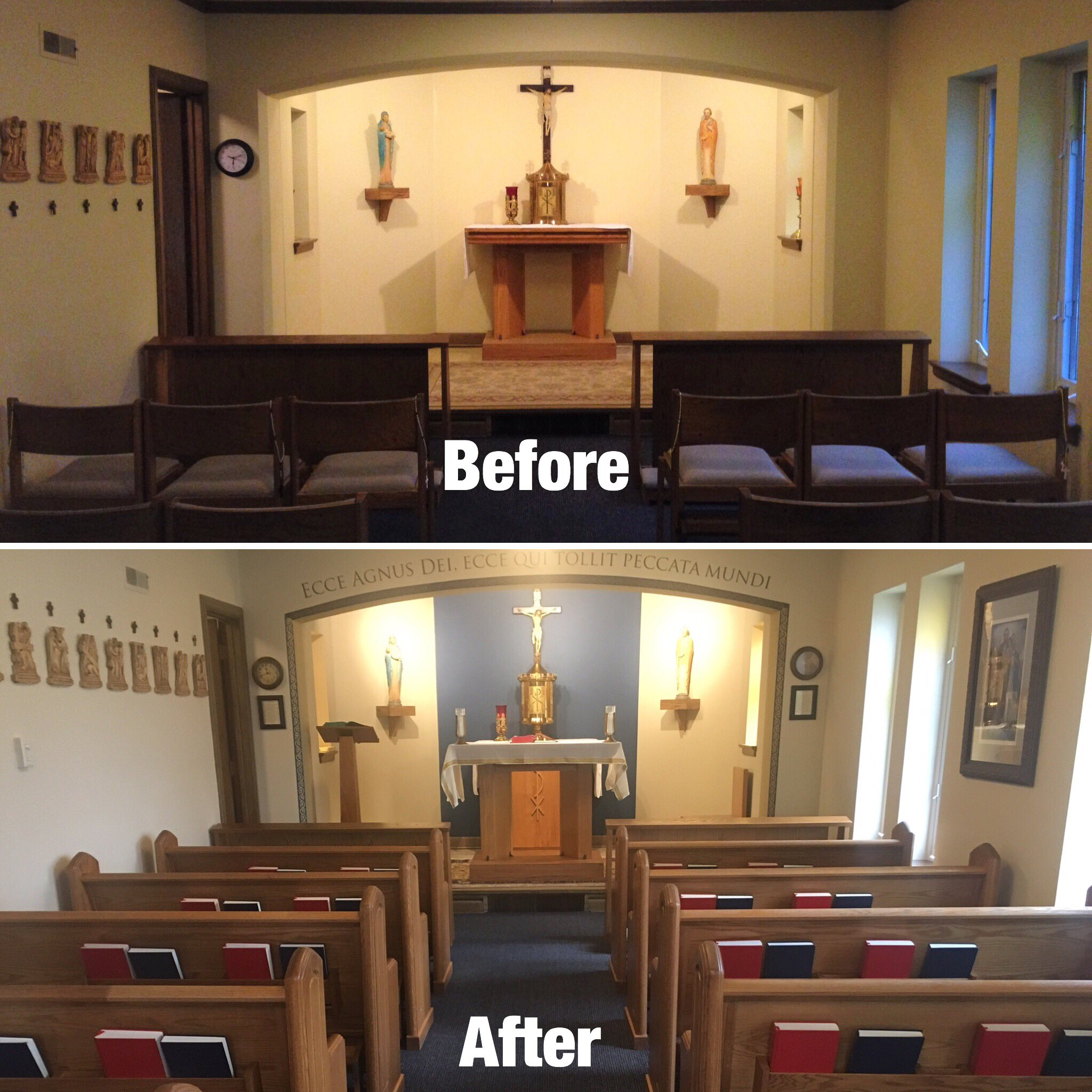 Chapel Renovation Draws Volunteers And Adorers Today S