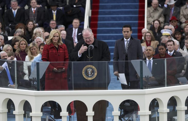 'We will be protected by God,' Trump declares in inaugural address