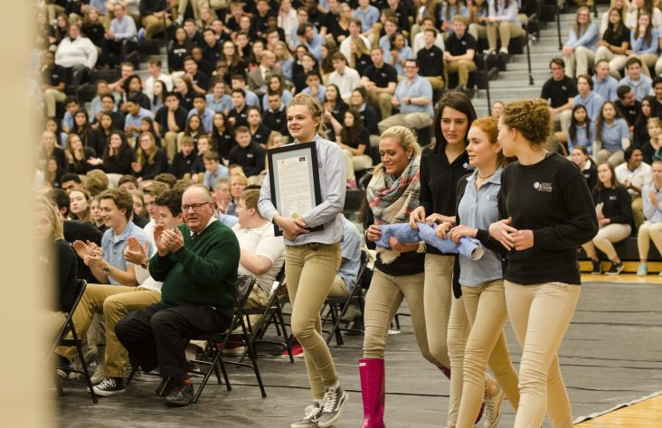 Saint Joseph High School welcomes Bishop Rhoades