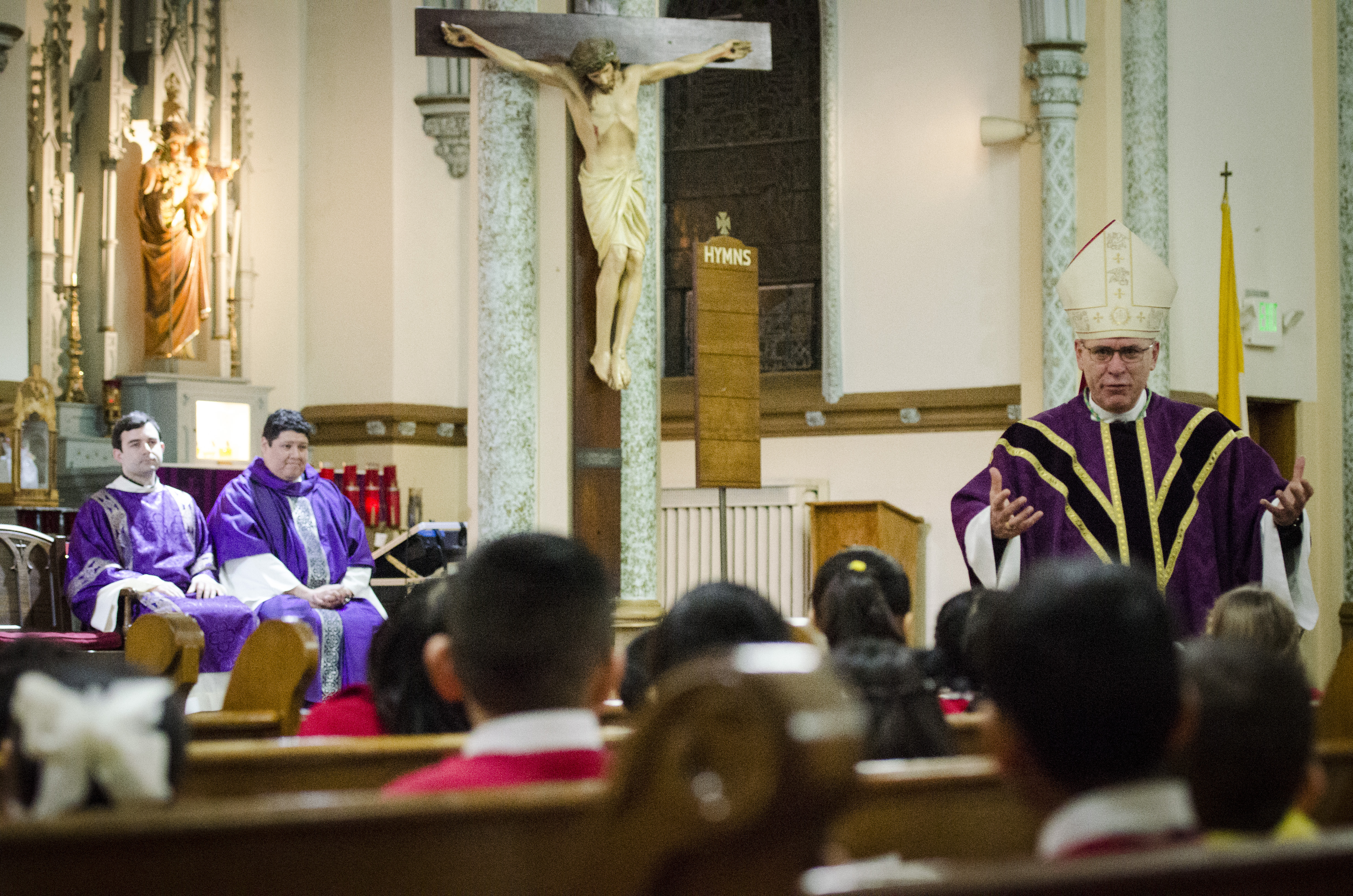 St adalbert school welcomes bishop rhoades todays catholic at the end of mass principal andrew currier had a presentation for the bishop he said there is no greater gift than the mass but we have a few mementos kristyandbryce Image collections