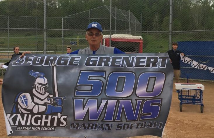 Marian softball coach journeys to 500 wins