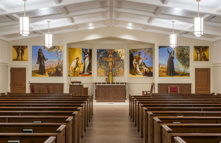 Paintings place finishing touch on new Bishop Luers chapel
