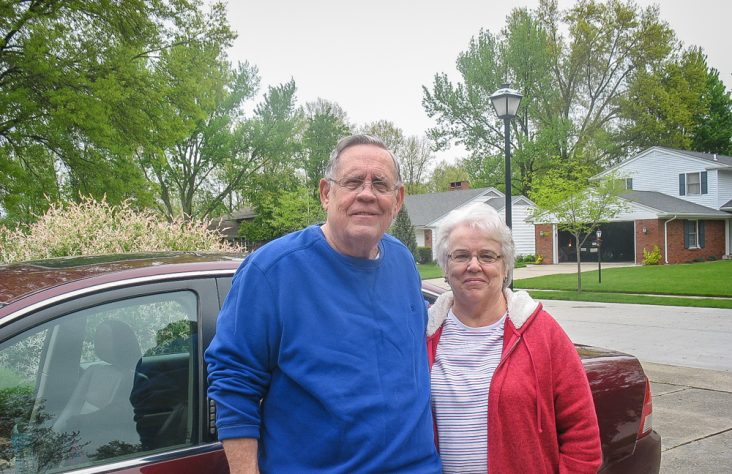 Senior couple provides hot meals, in motion
