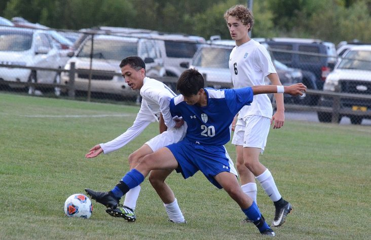 Saint Joseph and Marian battle on the soccer field
