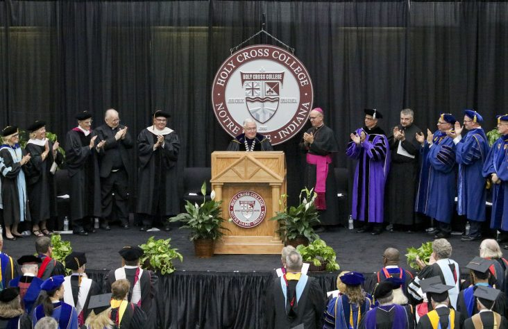 Father David Tyson, CSC, inaugurated president of Holy Cross College