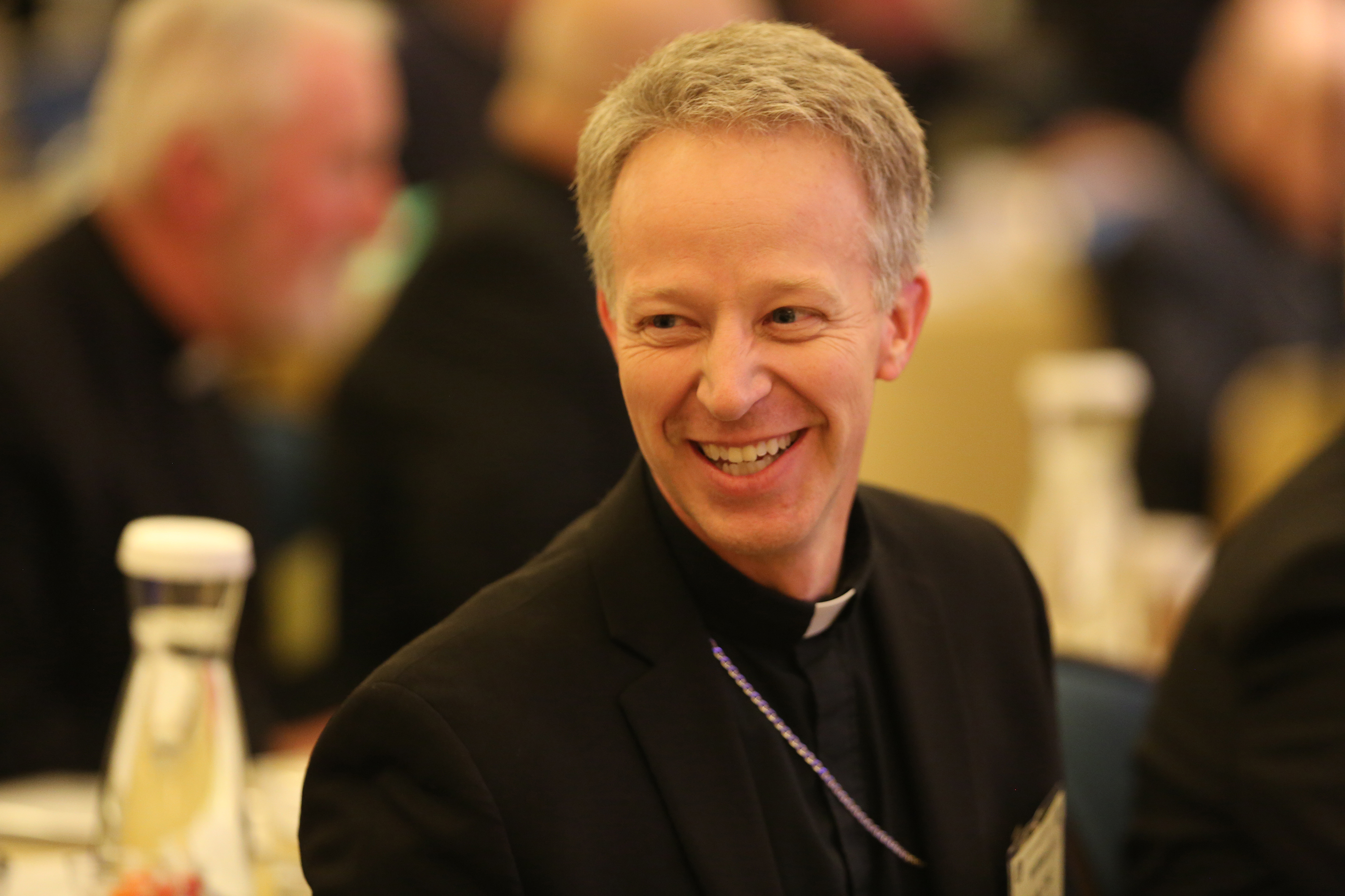 Us bishops take on immigration racism at fall assembly todays bishop william a wack of pensacola tallahassee fla smiles nov 13 during the fall general assembly of the us conference of catholic bishops in kristyandbryce Image collections