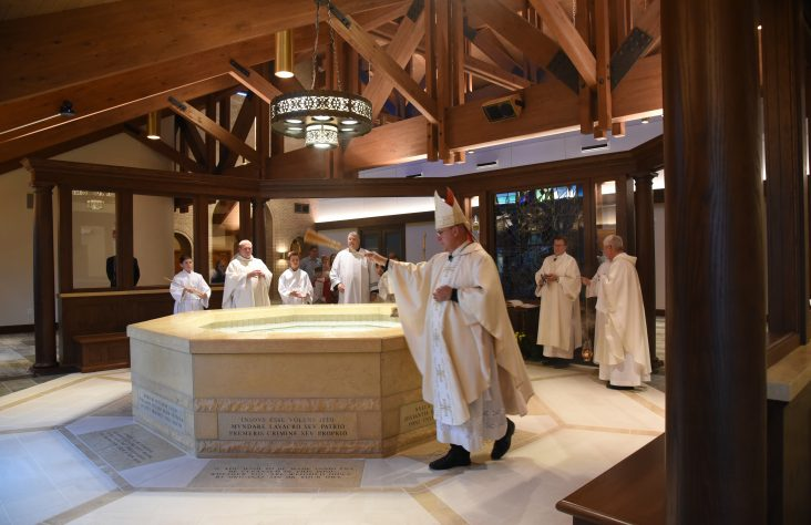 St. Pius X baptistery, gathering space blessed