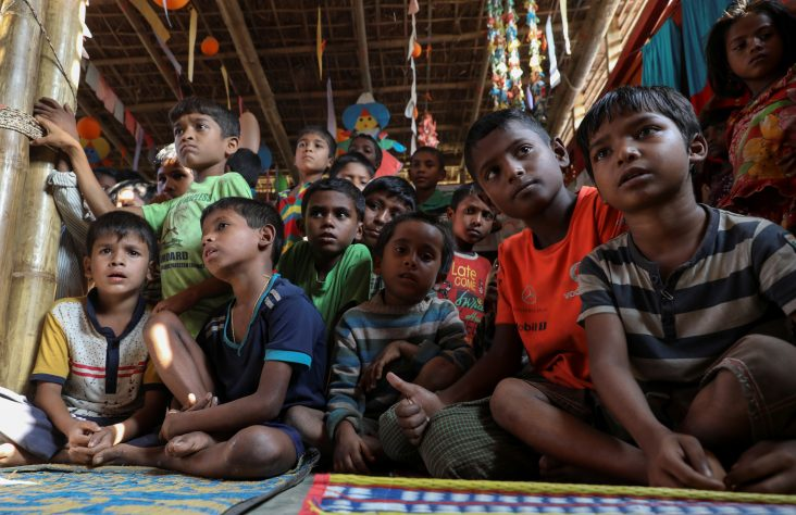 Child-friendly spaces offer young Rohingya refugees hope
