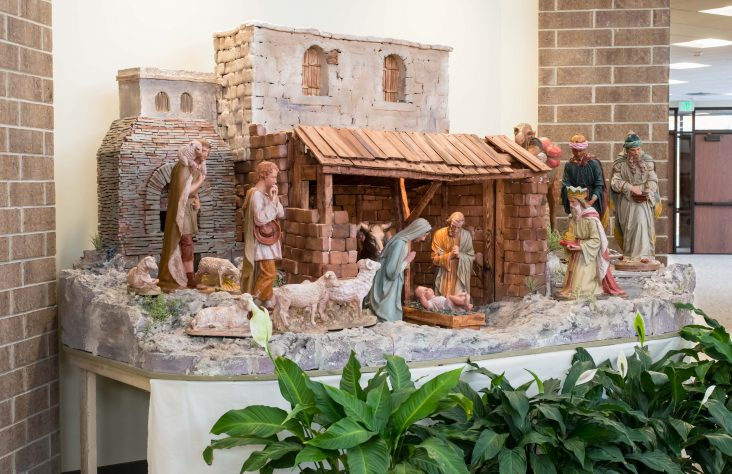 Distressed crèche restored at St. Charles Borromeo