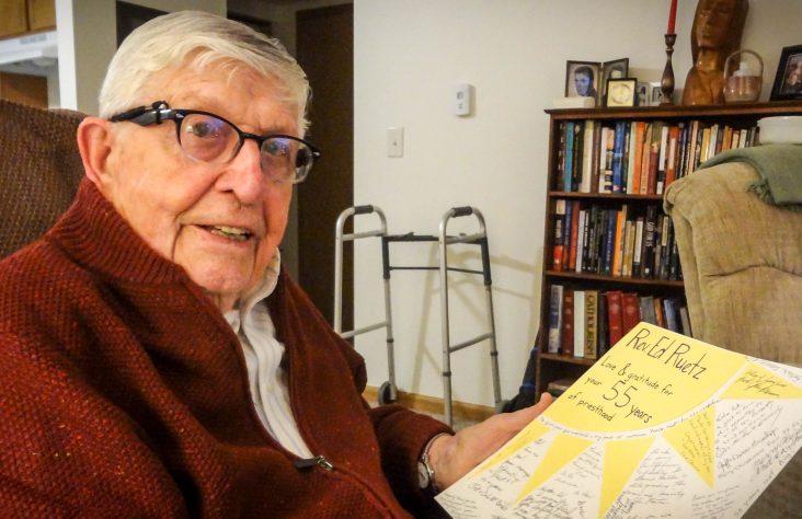Senior priest receives 55th anniversary greetings