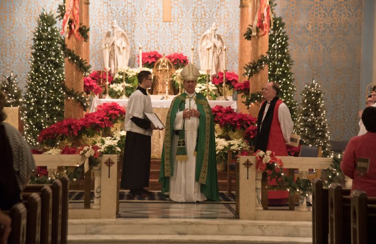 Catholic-Episcopalian vespers at St. Monica Church