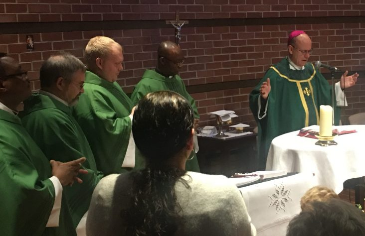 Bishop celebrates the Eucharist at Memorial Hospital