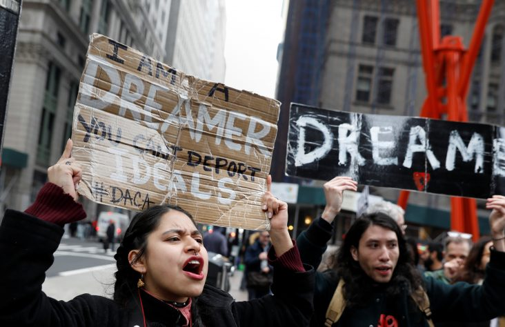 Court blocks Trump administration's effort to end DACA in March