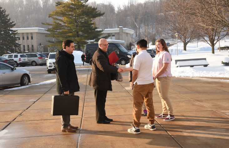Sacraments, science and art: Bishop visits Marian High School