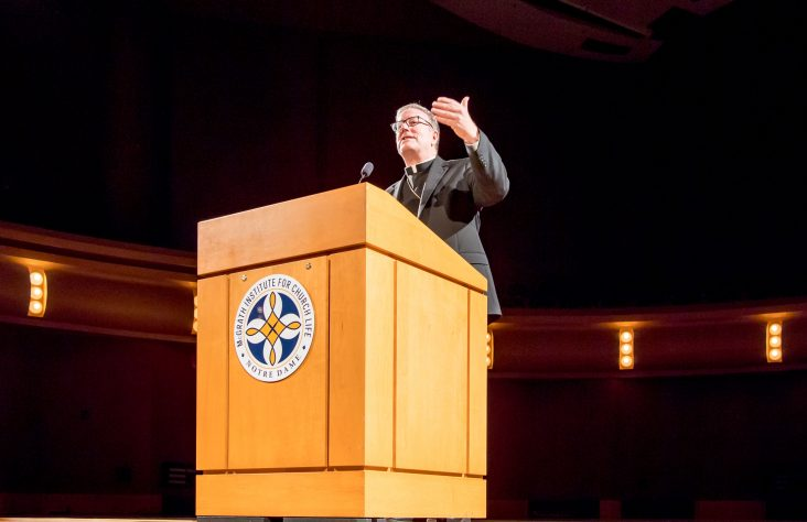 At Notre Dame, Bishop Barron discusses challenges, strategies for cultivating faith among youth