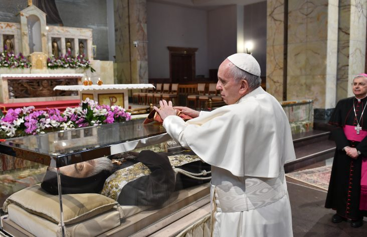 Imitate St. Pio's life, don't forget poor, marginalized, pope says