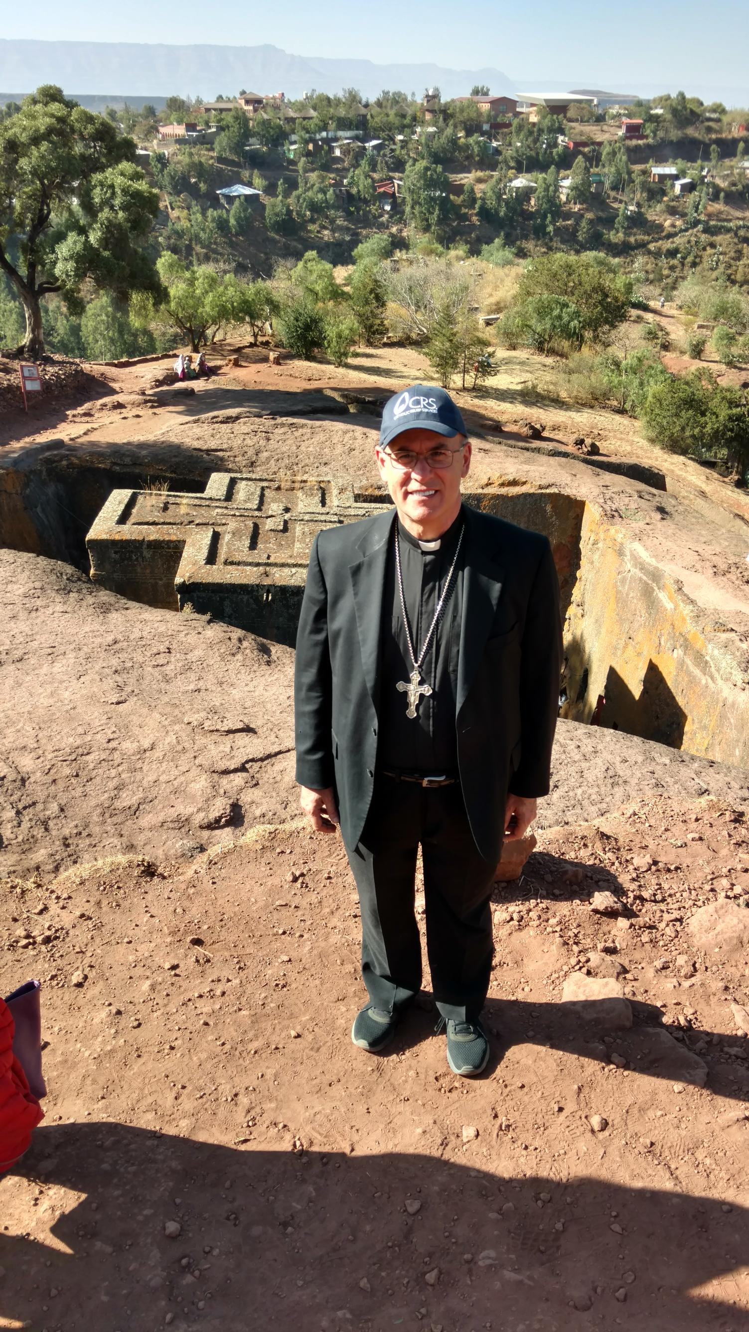 Bishops trip to ethiopia todays catholic bishop rhoades stands at st george church at lalibela ethiopia the catholic relief services team viewed the process of food distribution to the poor in kristyandbryce Image collections