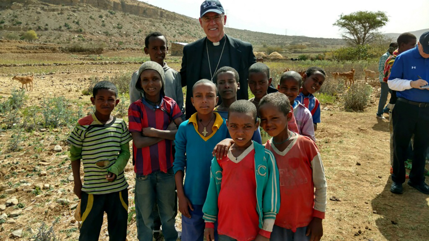Bishops trip to ethiopia todays catholic children pose with bishop rhoades on the first day of a catholic relief services trip to visit its projects and programs in ethiopia kristyandbryce Image collections