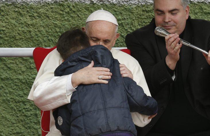 A little boy meets a pastor