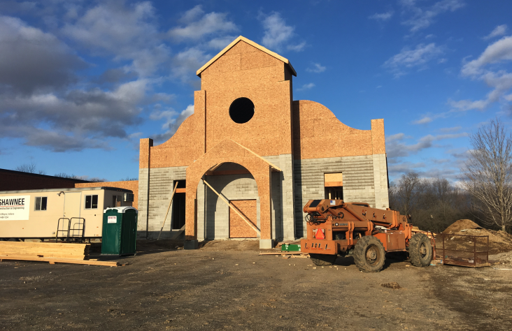 Blessed Sacrament Church takes shape in Albion
