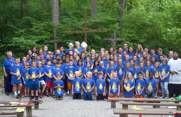 Outdoor Mass at Catholic Youth Summer Camp