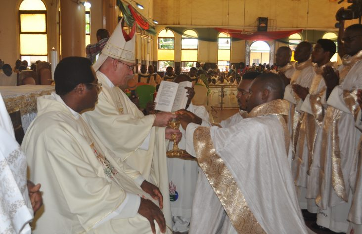 Bishop ordains new priests of the Congregation of the Holy Spirit
