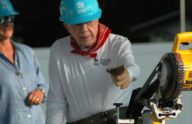 Jimmy Carter joins volunteer groups at Habitat for Humanity event