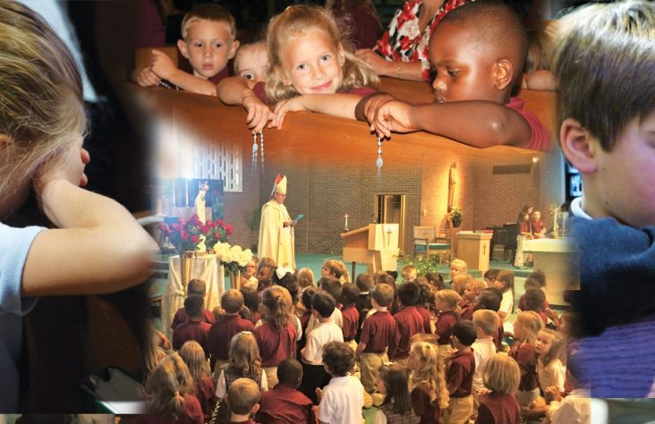 Drawing kids to the glow of Catholicism