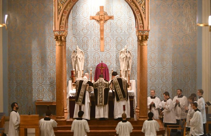Solemn high Mass commemorates faithful  departed with tradition, mystery