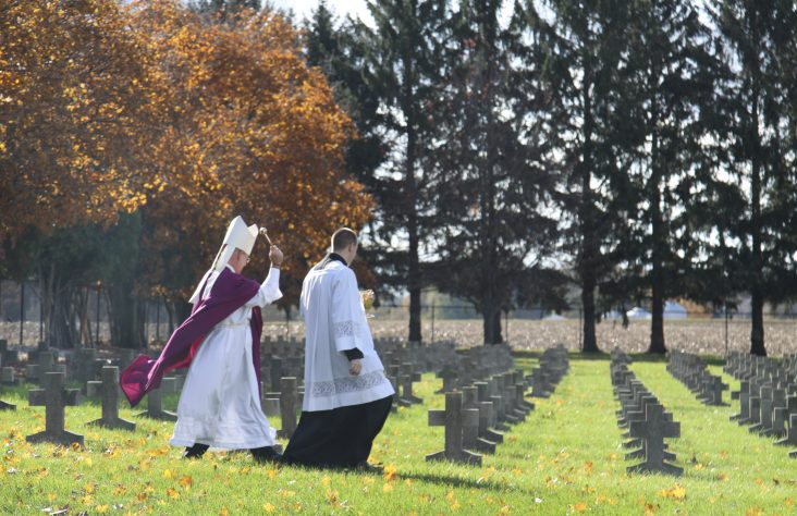 On All Souls Day, bishop and Sisters of St. Francis of Perpetual Adoration pray for departed loved ones
