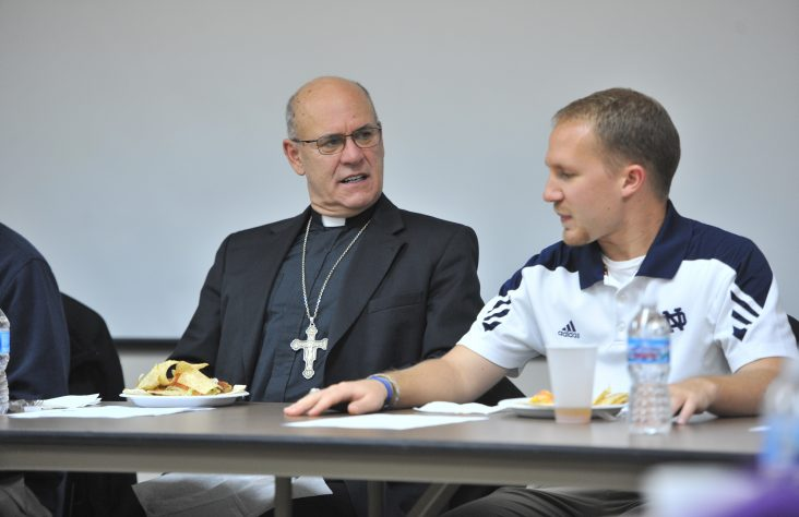 Listening in: Bishop hears young adult intentional disciples