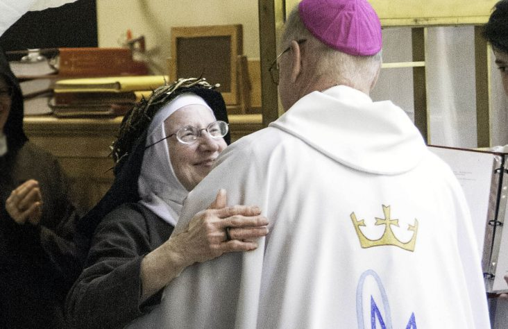 Joy, love consummated in profession of perpetual vows