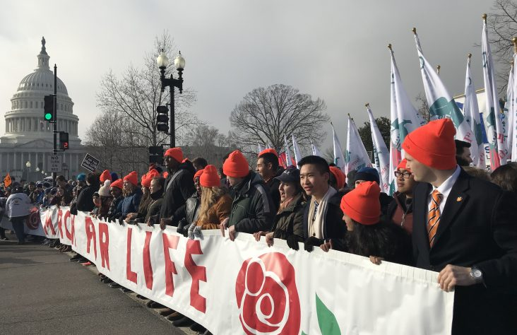 Bishop Dwenger High School students take the lead at March for Life