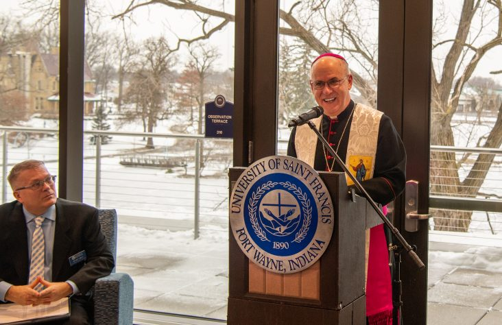 University of Saint Francis science complex expansion blessed