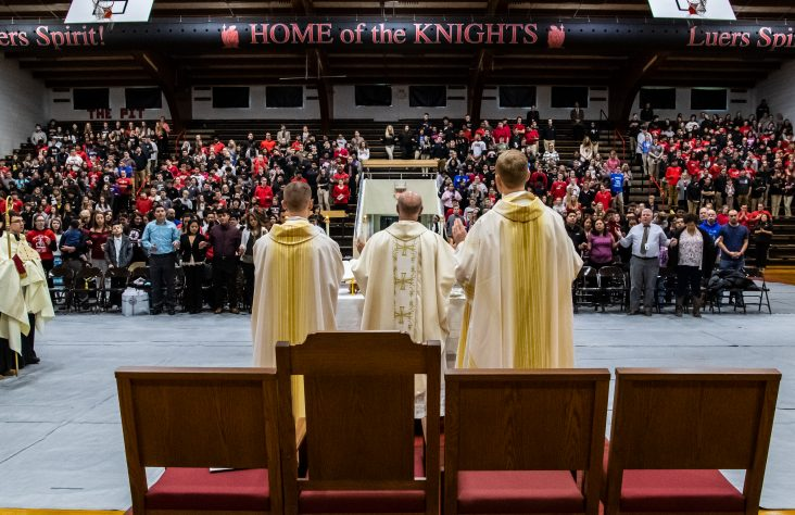 Bishop prays Luers students will 'live in faith and love'