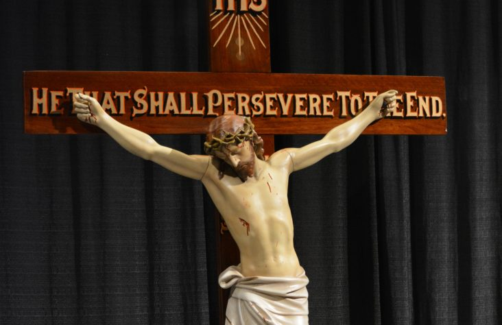 Crucifix brings its holy history to men's conference