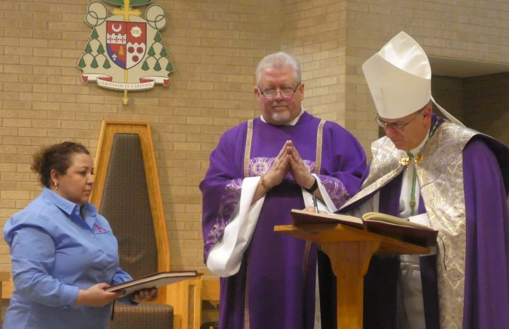 Catechumens, candidates presented to bishop at Rite of Election