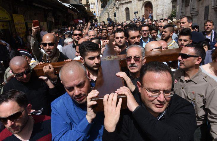 Family tradition: Carrying the cross on Jerusalem's Via Dolorosa