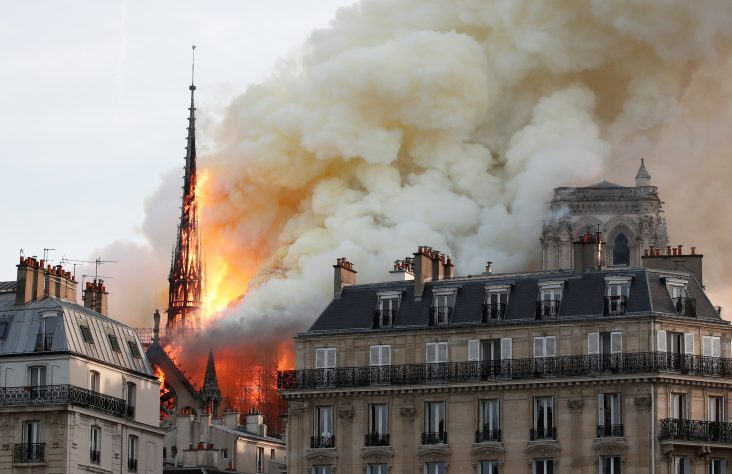 Blaze erupts at Paris' iconic Notre Dame Cathedral; cause unknown